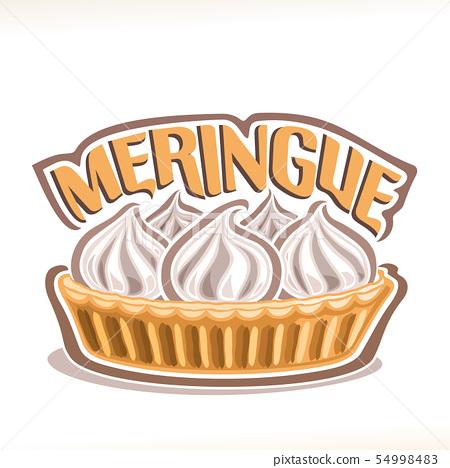 Vector illustration of italian dessert Meringue 54998483