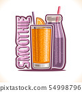Vector illustration of fruit Smoothie 54998796