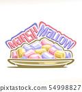 Vector illustration of Marshmallow 54998827