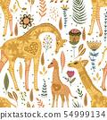 Cartoon giraffe vector illustration. 54999134