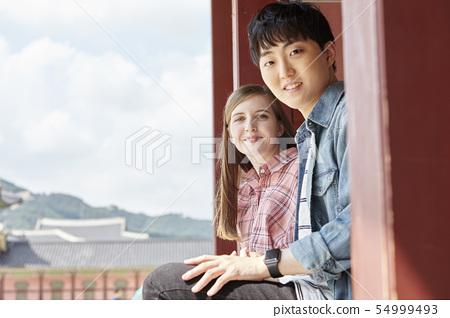 커플,연애,데이트,여행,관광,한옥,한국전통,경복궁,종로구,서울 54999493
