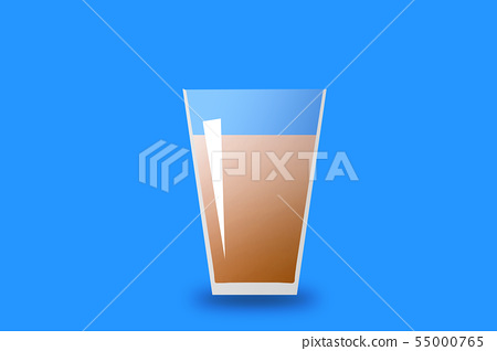 Illustration of iced coffee in a glass 55000765