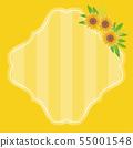 프레임 일러스트 해바라기 sunflowers 노란 yellow 55001548