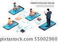Online School Smartphones Composition 55002960