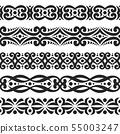 Vector set of black seamless borders 55003247