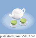 Tea Industry Isometric Composition 55003741