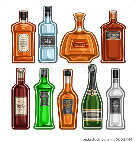 Vector set of different Bottles 55003744