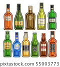 Vector set of different Bottles 55003773