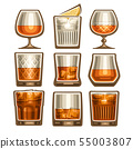 Vector set of different glassware 55003807