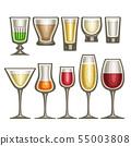 Vector set of different glassware 55003808