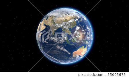 Flying over the earth's surface, 3D rendering. 55005673