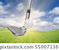 Chrome Golf Club Wedge Iron Hitting Golf Ball 55007136