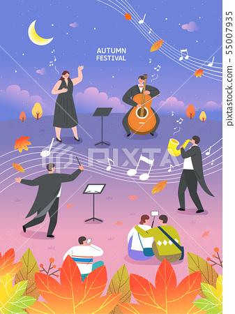 Autumn travel illustration 55007935