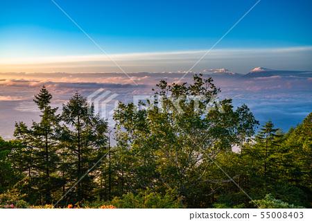 《山梨縣》阿馬里山雲海的黎明 55008403