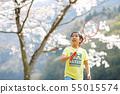 打羽毛球的女孩在佐倉下 55015574