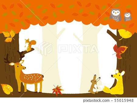 秋天圖像例證森林動物 55015948