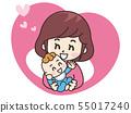嬰兒和母親的圖標 55017240