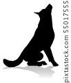 Dog Silhouette Pet Animal 55017555