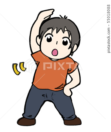 Boy doing gymnastics 55018088