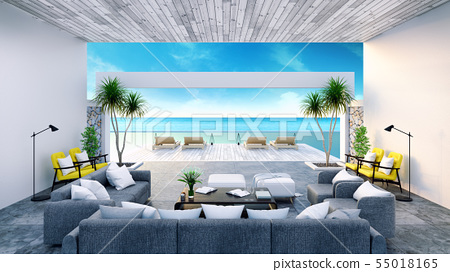 Beach lounge ,Sunbathing deck and private pool 55018165