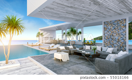 Beach lounge ,Sunbathing deck and private pool 55018166