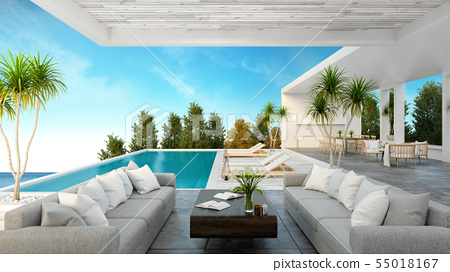 Beach lounge ,Sunbathing deck and private pool 55018167
