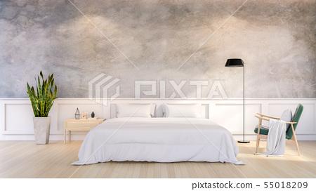 Minimalist Loft Design of Bedroom Interior 55018209