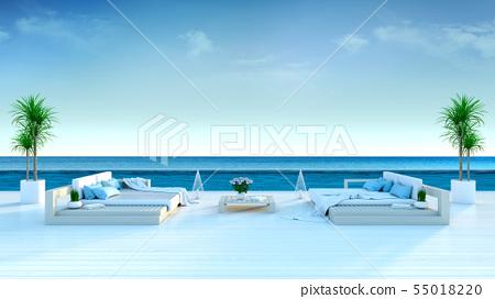 Summer,beach lounge,sun loungers,Sunbathing deck 55018220