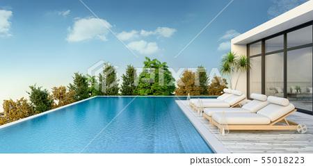 Summer ,beach lounge, Sunbathing deck 55018223