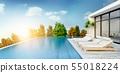 Summer ,beach lounge, Sunbathing deck 55018224