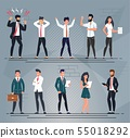 Different Office People Characters Cartoon Set 55018292