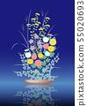Autumn flower arrangement illustration 55020693