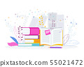 Book library. Reading, knowledge and education concept 55021472