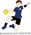 男子手球运动员 55022546