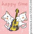 Kawaii cats and the guitar 55025100