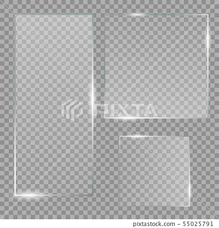 Vector glass banners 55025791