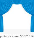 藍色舞台幕布框架 55025814