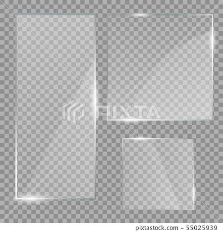 Vector glass banners 55025939