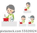 요리를하는 할머니 55026024