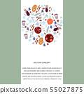 Mulled wine hand drawn circle border.  55027875