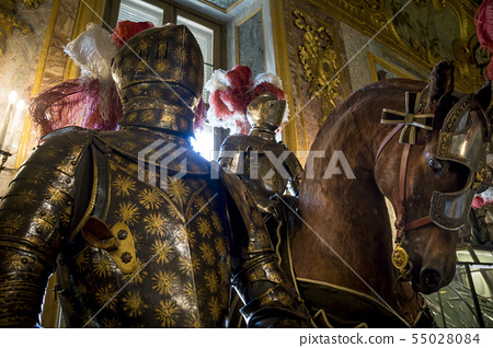 Ornate suits of armour on display in Palace of Tur 55028084