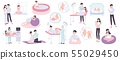 Pregnancy And Childbirth Flat Icons 55029450