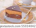 초콜릿 케이크 티타임 55034042