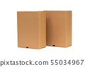 Brown cardboard shoes box with lid for shoe or 55034967