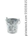 metal bucket on white background. 55035615