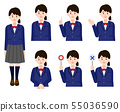 Female student uniform simple no line illustration 55036590