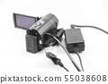 Video camera and battery charger. 55038608