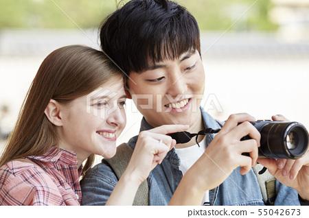 커플,연애,데이트,여행,관광,한옥,한국전통,경복궁,종로구,서울 55042673