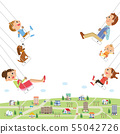 Looking for a house View Family on a swing 55042726