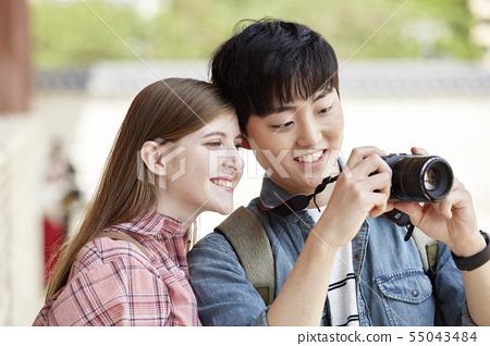 커플,연애,데이트,여행,관광,한옥,한국전통,경복궁,종로구,서울 55043484